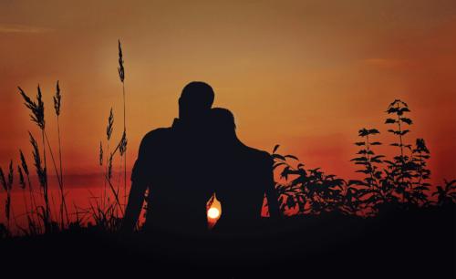 Intimität zwischen zwei Seelenpartnern / Seelenverwandten